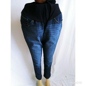 Blue Spice Size XL Maternity Jeans